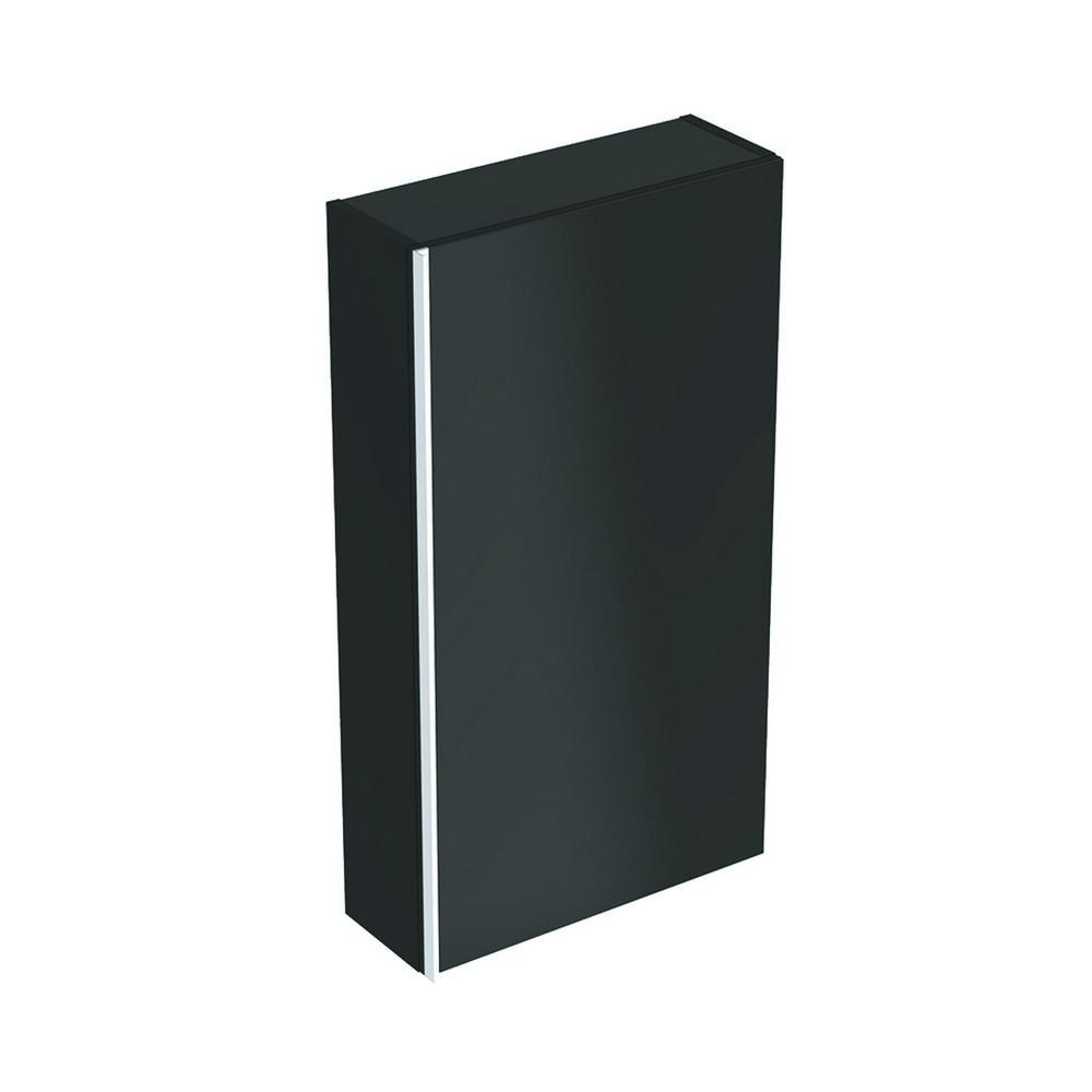 Geberit Acanto bovenkast 1 glasdeur 82x45 cm, zwart