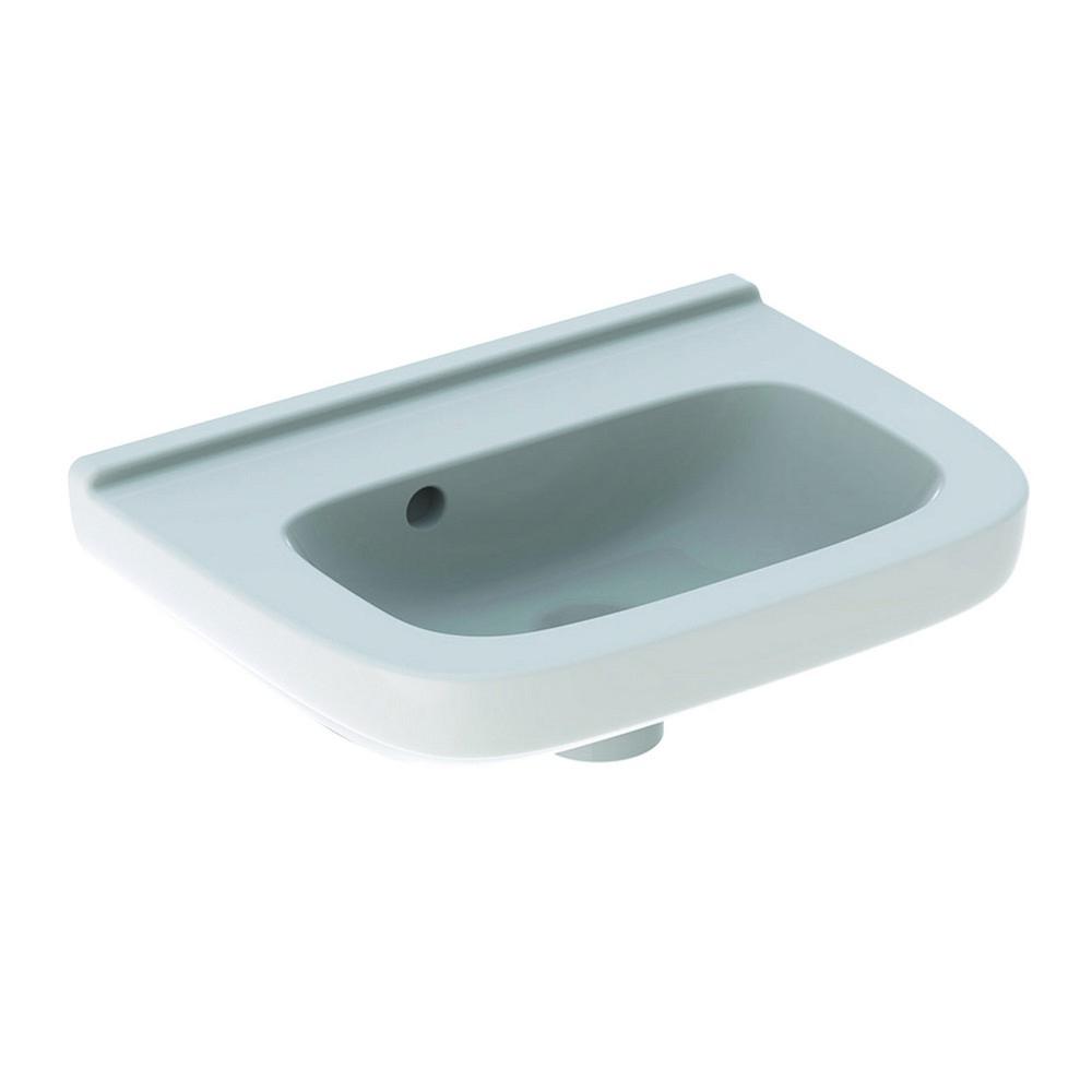 Geberit 300 basic fontein 40 cm zonder kraangat met overloop met Keratect, wit