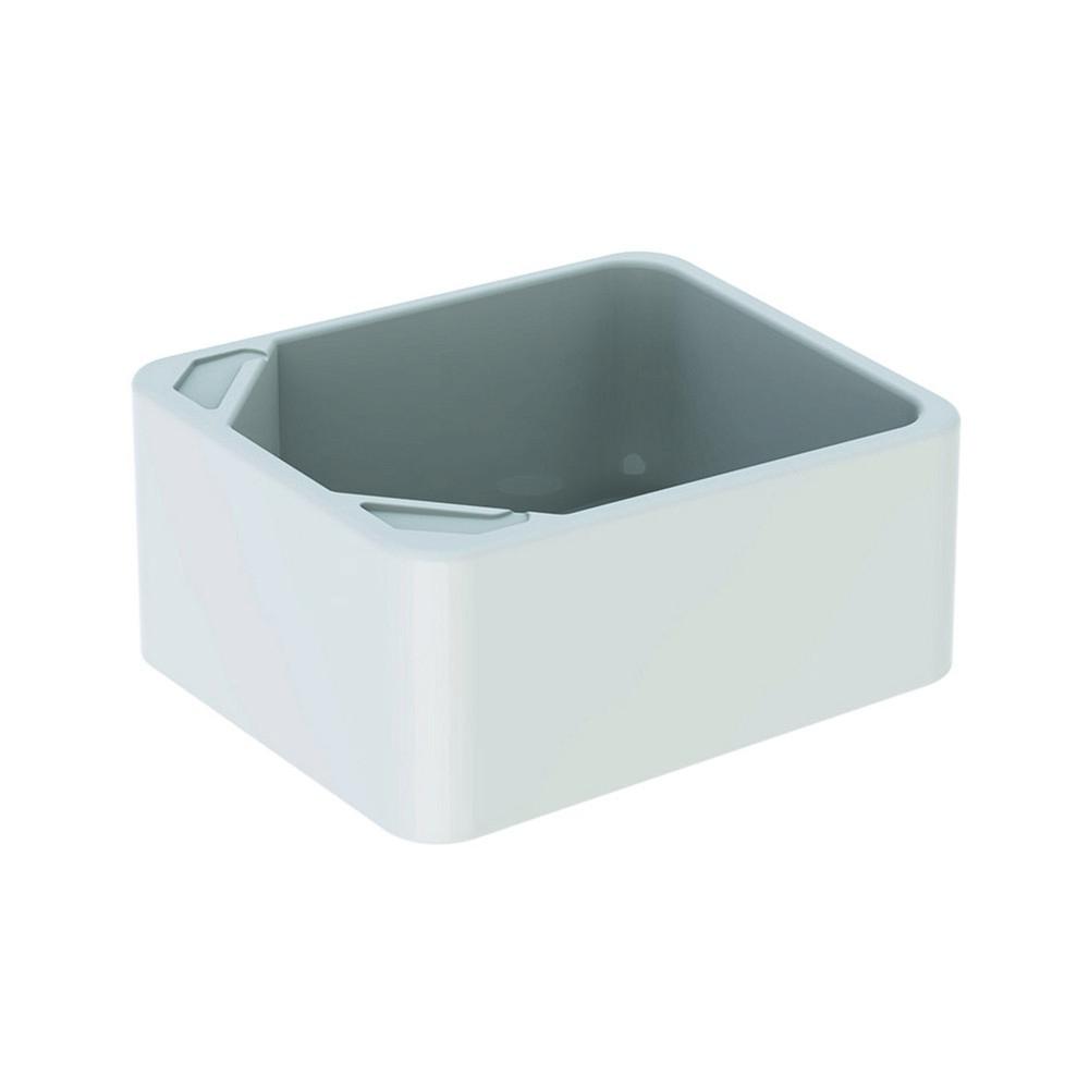 Geberit 300 basic voetbassin 39x48 cm zonder overloop, wit