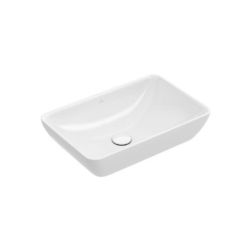 Productafbeelding van Villeroy & Boch Venticello semi inbouw- opzetwastafel z. kraangat 55x36cm m. overloop ceramic+ stone white