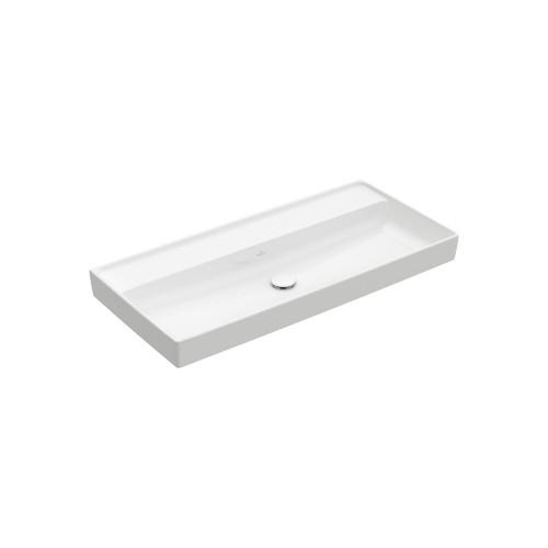 Productafbeelding van Villeroy & Boch Collaro meubelwastafel 80x47cm z. overloop z. kraangat wit
