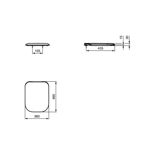 Productafbeelding van Ideal Standard Tonic II closetzitting m. deksel wit