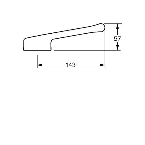 Hansa Hansamedipro projecthendel lange uitvoering 14.3cm m. warm en koud aanduiding chroom 02450006