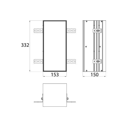Emco Asis Module Plus inbouw toiletpapiermodule m. betegelbare deur 15.4x33.2cm links