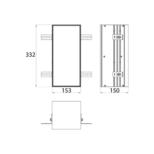 Emco Asis Module Plus inbouw toiletpapiermodule m. betegelbare deur 15.4x33.2cm rechts