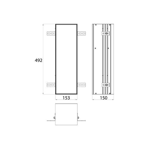 Emco Asis Module Plus inbouw toiletpapiermodule m. betegelbare deur 15.4x49.2cm links