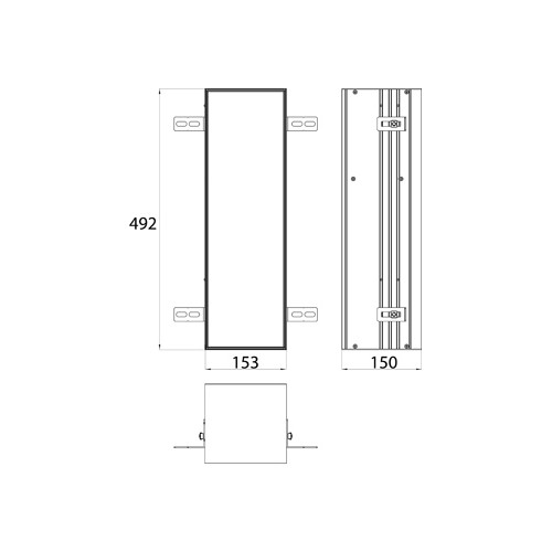 Emco Asis Module Plus inbouw toiletpapiermodule m. betegelbare deur 15.4x49.2cm rechts