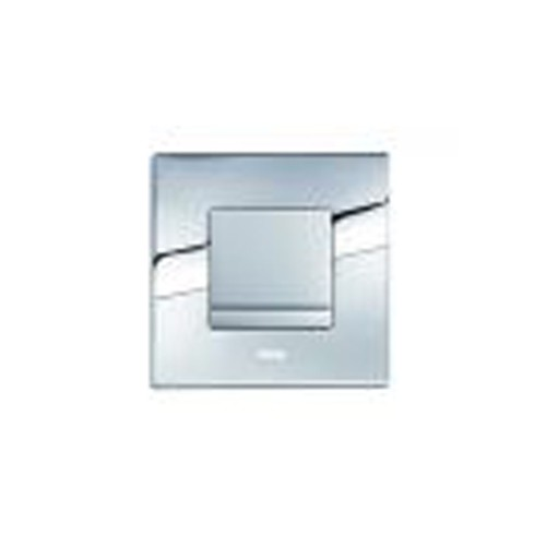 Wisa XS bedieningsplaat Delos urinoir 16x16cm metaal mat/glanschroom