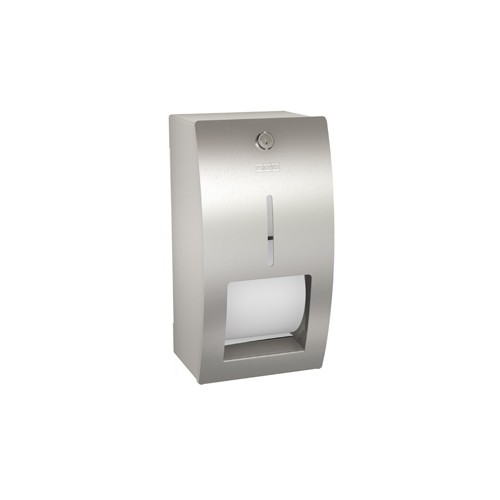 Franke Stratos dubbele closetrolhouder 15.6x30.3x14.1cm (easy to clean) incl. bevestiging RVS STRX672
