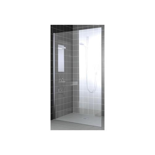 Kermi Walk-In XC Wall douchewand z. stabilisatie 50x200cm glanszilver/helder
