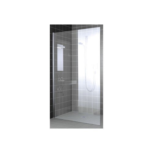 Productafbeelding van Kermi Walk-In XC Wall douchewand z. stabilisatie 110x200cm glanszilver/helder