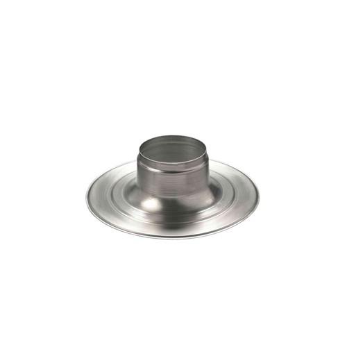 Ubbink Multivent aluminium plakplaat Ø131mm 5-25° H=250mm t.b.v. Multivent dakdoorvoer op platte daken 169910
