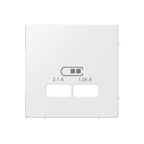 Schneider Electric Merten System M centraalplaat voor USB wit MTN43670319