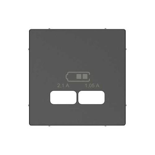 Schneider Electric Merten System M centraalplaat voor USB antraciet MTN43670414