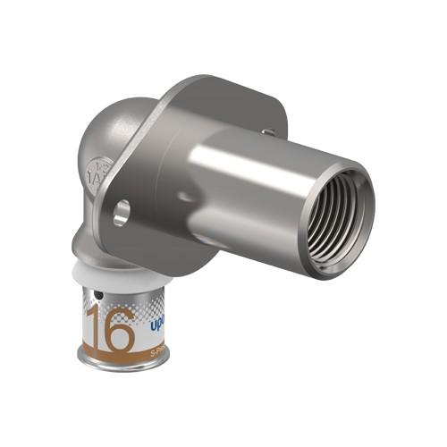 Uponor S-Press Plus Aqua pers wanddoorvoer haaks 16mmx1/2