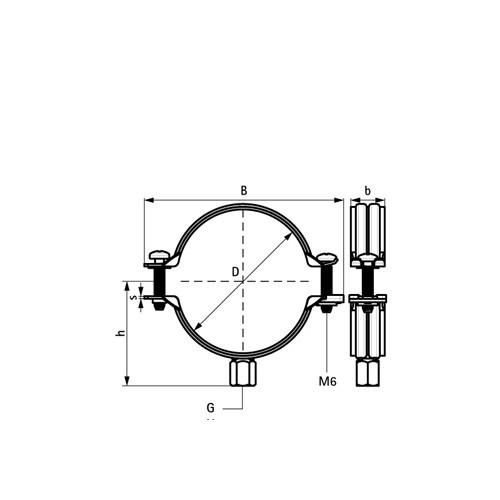 Walraven BIS Bifix® G2 pijpbeugel zonder inlaag M8/10 125-130mm BUP1000 voor stalen buis 3008130