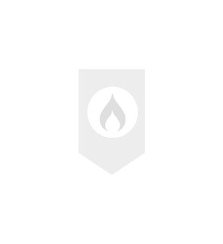 Easy Drain AquaJewels Quattro glas glans 10x10cm met zijuitloop 50mm met waterslot 30/35/50mm wit AJQ-10X10-GW 8718274501063 AJQ10X10GW