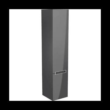 Villeroy & Boch Subway 2.0 hoge kast 35x37x165cm, met 2 deuren links, glossy grey