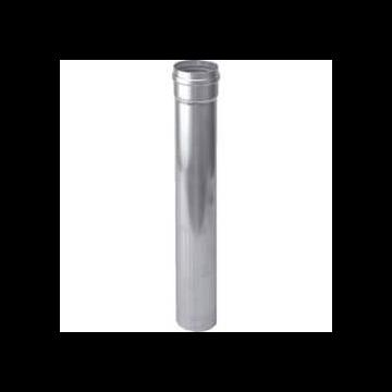 Burgerhout Alu-fix rookgaspijp Ø80mm l=1000mm aluminium dikwandig