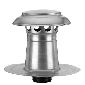 Burgerhout Vent-Alu 3000 aluminium dakontluchting dubbelwandig met aluminium kap 110/125mm Anjo