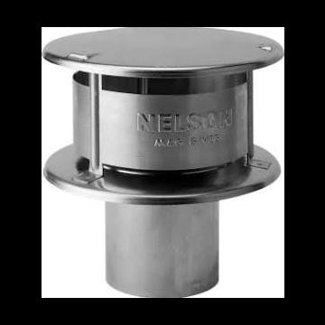 Burgerhout Nelson rookgaskap Ø150mm aluminium Nelson