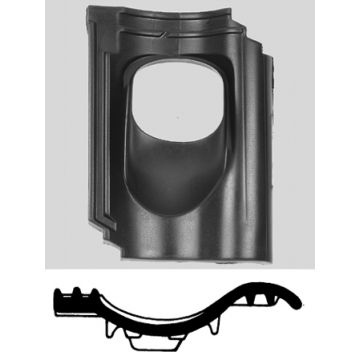 Ubbink doorvoerpan kunststof 131mm 35-55° OVH 4-pans