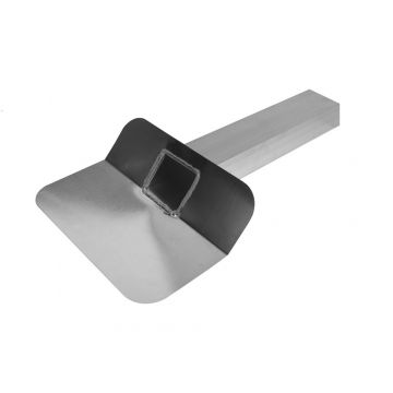 Burgerhout Anjo aluminium kiezelbak gesloten uitloop 90° L=200mm-60x80mm Anjo 457268