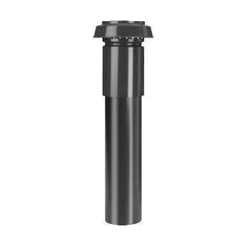 Burgerhout WTW3000 aluminium ventilatie dakdoorvoer geïsoleerd 180-150mm zwart