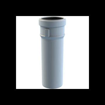 Burgerhout Safe-pp rookgaspijp Ø80 l=1000mm Safe-PP wit