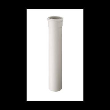 Ubbink Rolux PP verlengstuk T120 80mm L=1000mm wit 0123030