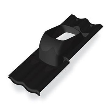 Burgerhout pan verstelbaar D 25-45° sneldek 2-pans zwart