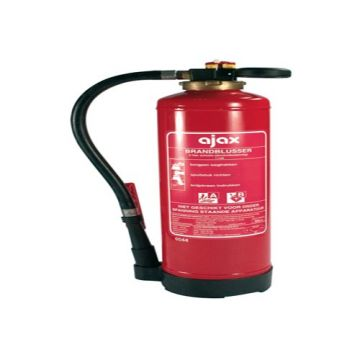 Ajax ES brandblusser, soort vulling schuim, netto gewicht 9kg, met ophangbeugel