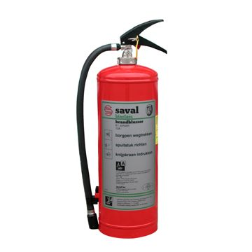 Saval Bioclass F6C brandblusserusser, soort vulling schuim, netto gewicht 6kg, met