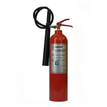 Saval AK brandblusserusser, soort vulling CO2, netto gewicht 5kg, met ophangbeugel