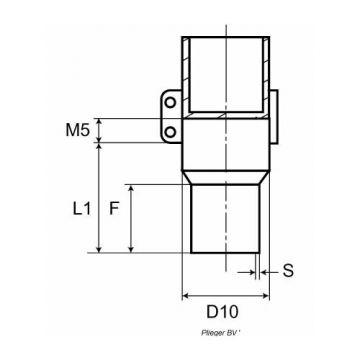 ACO GM-X aansluitingstuk SML-spie x Möck-mof 50x50mm
