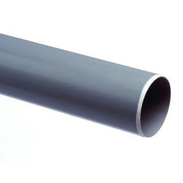 Wavin PVC buis dikwandig 110x103.6mm lengte=5m, prijs=per meter, grijs