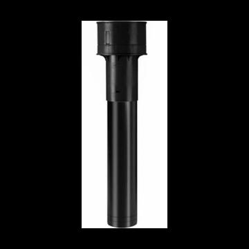 Burgerhout ventilatiedakdoorvoer megavent Ø125mm l=950mm PP zwart