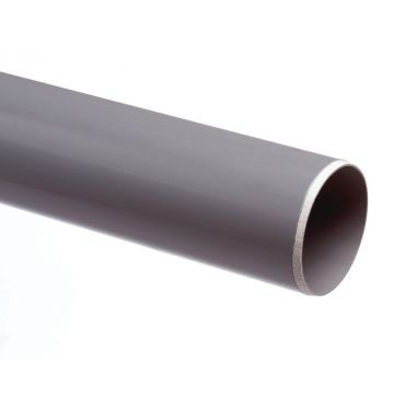 Wavin PVC buis dikwandig 50mm lengte=2m, prijs=per meter, grijs