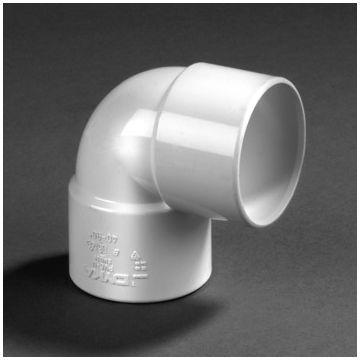 Dyka PVC bocht 90° mof 50mm wit