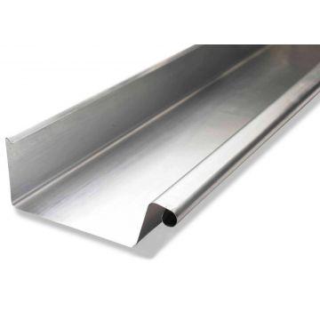 Rheinzink zinken bakgoot B44 dikte=0.80mm lengte=3m, prijs=per meter 0810000600