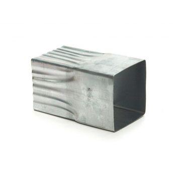 Rheinzink verbindingsmof voor HWA-buis, vierkant 100x100mm