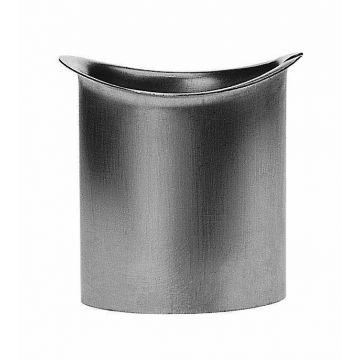 Rheinzink zinken tapeind, ovaal (voor mastgoot) Ø100x200mm, dikte=0.80mm