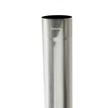 Rheinzink HWA-buis rond, walsblank zink Ø80x0.65x3000mm lengte=3m, prijs=per meter