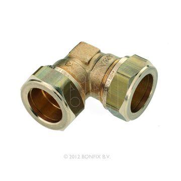 Bonfix knel knie messing 22x22mm gastec/Kiwa