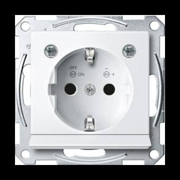 Schneider Electric Merten Systeem M met wandcontactdoos inbouw enkel randaarde met LED