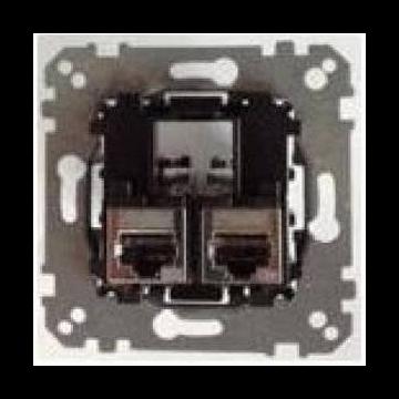 Schneider Electric Merten Systeem M met draagplaat inclusief UTP CAT 6A 1-voudig