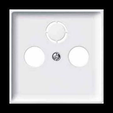 Schneider Electric Merten ARTEC/Antiek centraalplaat voor coax, wit