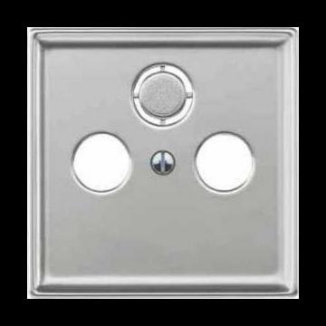 Schneider Electric Merten Systeem Design centraalplaat voor coax, edelstaal