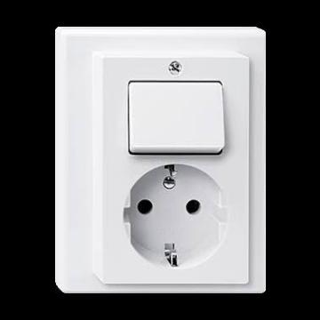 Schneider Electric Merten Systeem M met inbouw combinatie wissel met randaarde, wit 27831