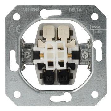 Siemens inbouwschakelaar serie 2x1-polig
